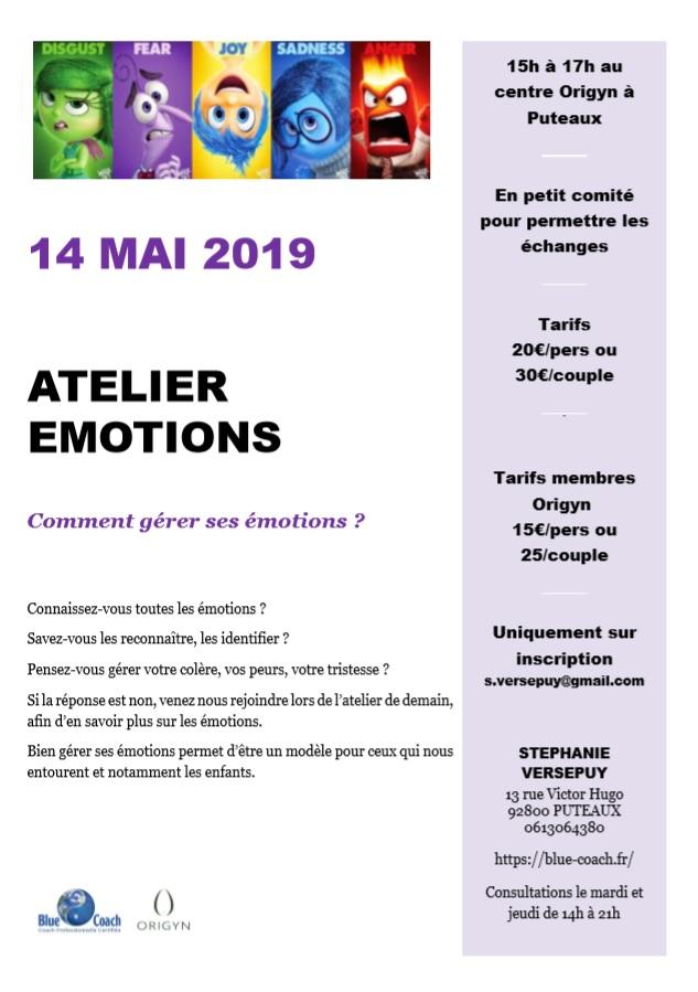 Atelier sur la gestion des émotions